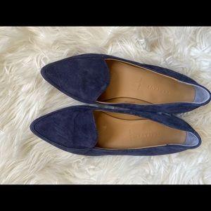 Everlane navy blue suede loafer